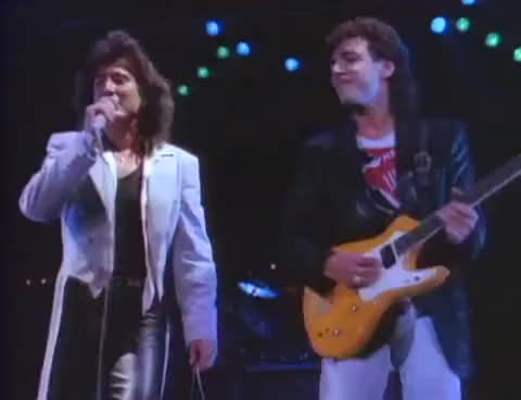 Watch Steve/Neal GIF on Gfycat. Discover more I\'ll Be Alright Without You, Neal Schon, Raised On Radio, Steve Perry GIFs on Gfycat
