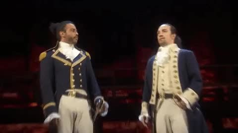 Watch and share Lin Manuel Miranda GIFs and High Five GIFs by Reactions on Gfycat
