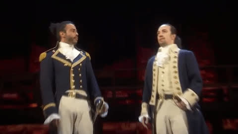 bro five, hamilton, high five, lin manuel miranda, national high five day, Hamilton High Five GIFs
