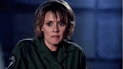 Watch and share Samantha Carter GIFs and Amanda Tapping GIFs on Gfycat