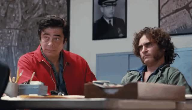 Watch and share Benicio Del Toro GIFs and Joaquin Phoenix GIFs on Gfycat