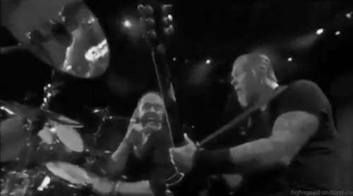 Watch and share James Hetfield GIFs and Lars Ulrich GIFs on Gfycat