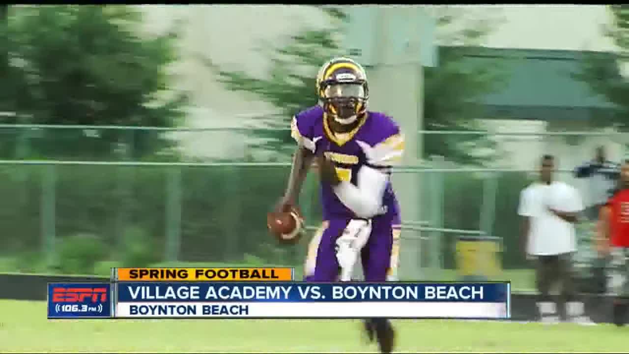 Hs Spring Football Village Academy Vs Boynton Beach Gif Find Make Share Gfycat Gifs