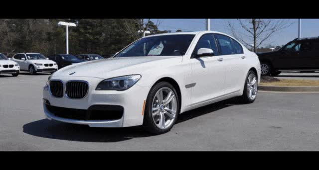 Watch and share 2014 BMW 750Li Definitely Not Beautiful Or Focused (Yet) -- But Less Adrift As 750i M Sport + Squared-Off LED Lights Option GIFs on Gfycat