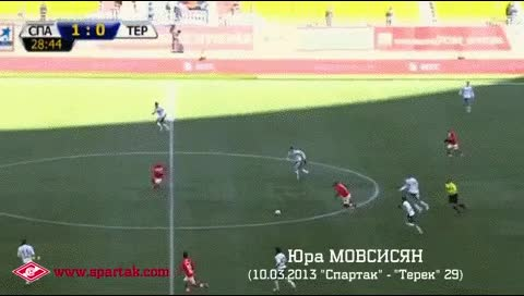 Watch and share Yura Movsisyan. Spartak Moscow - Terek. 10.03.2013 GIFs by fatalali on Gfycat