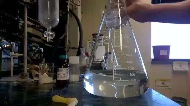 Crystallization of Lead (II) Iodide [Golden Rain] GIF | Find