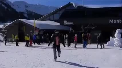 Watch and share Skiing GIFs and Winter GIFs by Reactions on Gfycat