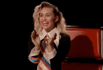 applause, awesome, bravo, celebrate, cyrus, glad, good, happy, miley, perfect, Miley Cyrus - Applause GIFs