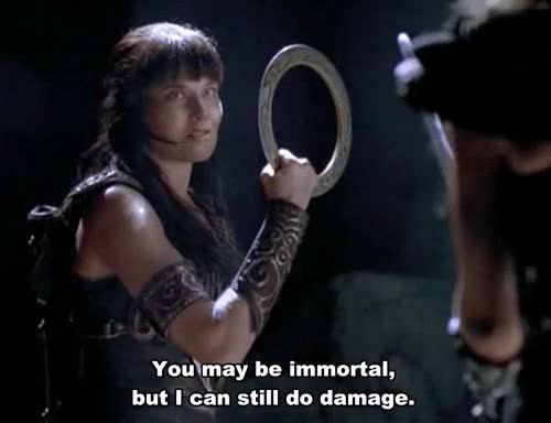 Watch and share Xena X Callisto GIFs and Hudson Leick GIFs on Gfycat