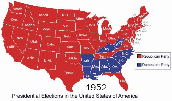 Watch and share File:US Presidential Elections Dem GOP 1952-2004.gif GIFs on Gfycat