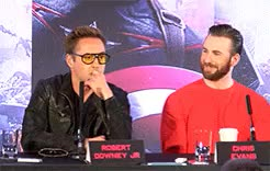 Watch and share Robert Downey Jr GIFs and Chris Evans GIFs on Gfycat