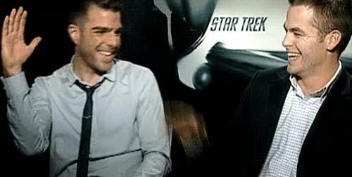 Watch this chris pine GIF on Gfycat. Discover more chris pine, zachary quinto GIFs on Gfycat