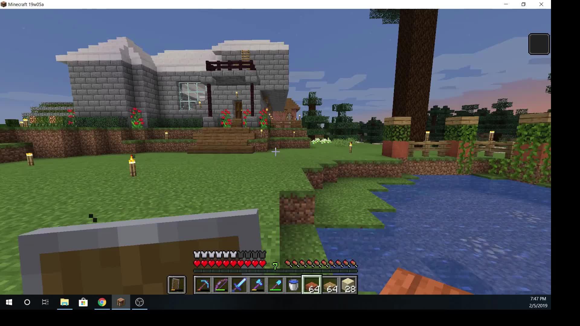 Minecraft, funny, scary, vindicator, Vindicator pulls a