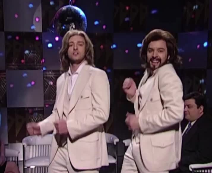 dance, disco, excited, funny, happy, jimmy, justin, justin timberlake, moves, party, smile, Happy 40th Anniversary SNL GIFs