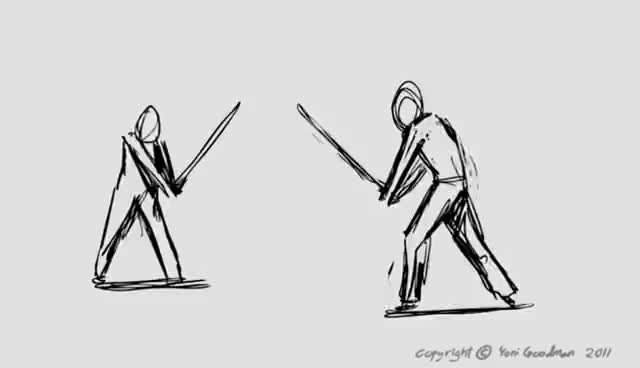 short swordfight animation