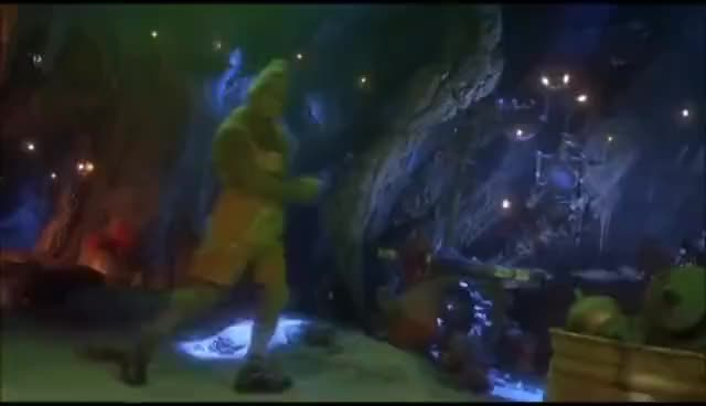 The Grinch Trying On New Clothes Gif Find Make Share Gfycat Gifs