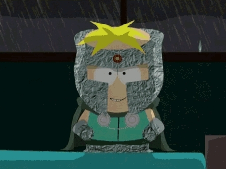 gfycatdepot, Standing in the darkness with lighting and rain falling behind you. [South Park Professor Chaos Butters mad man crazy evil] (reddit) GIFs