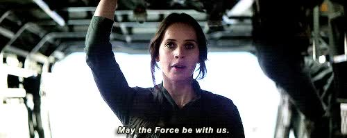 Watch and share Star Wars Rogue One GIFs and Felicity Jones GIFs on Gfycat