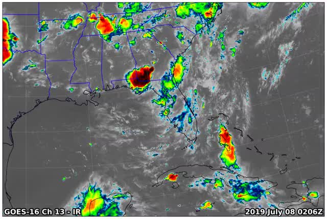 Watch and share GOES16 Ch13 2019 07 08 0206 GIFs by suckerfish on Gfycat