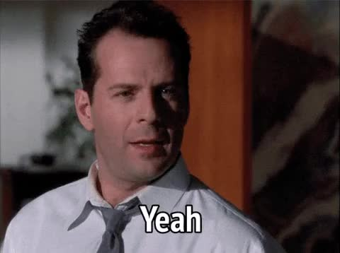 Watch and share Bruce Willis GIFs and Yeah GIFs by MikeyMo on Gfycat