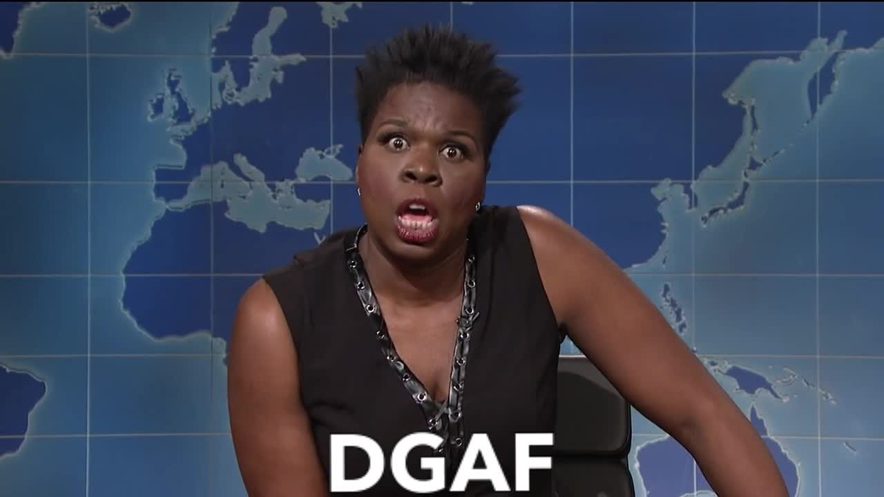 DGAF, GIF Brewery, Jones, Leslie, Live, Night, SNL, Saturday, DGAF Leslie Jones SNL GIFs