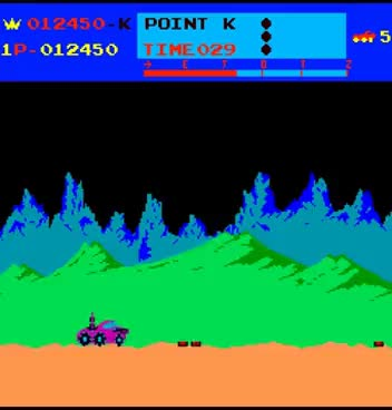 Watch Arcade Game: Moon Patrol (1982 Irem) GIF on Gfycat. Discover more related GIFs on Gfycat