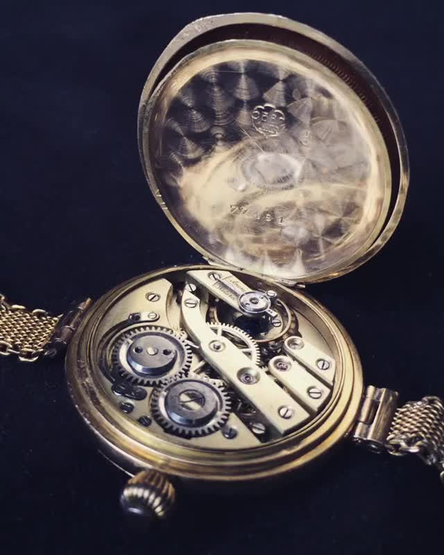 Watch George Favre-Jacot pocket watch with Fontainemelon movement GIF on Gfycat. Discover more movement GIFs on Gfycat