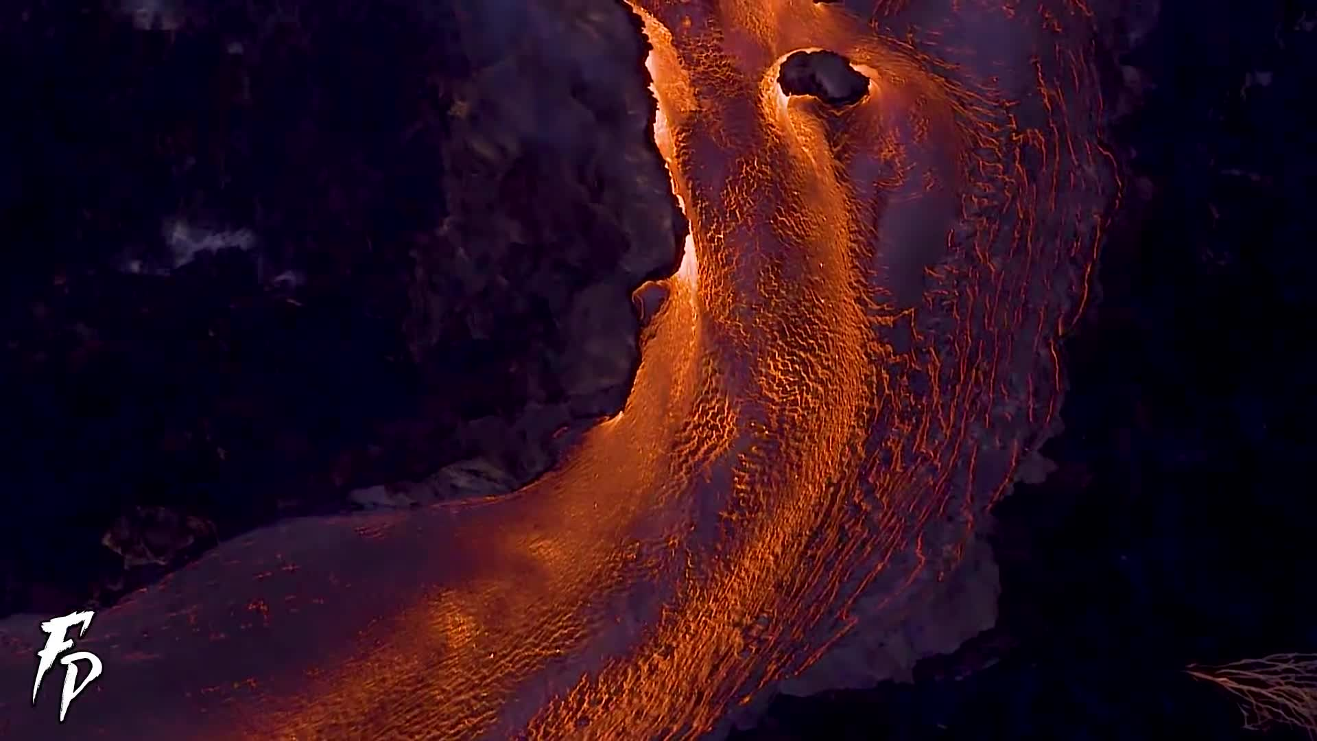 Aerial footage of eruption in Hawaii 2018, Fissure 8, Lava does non stop, fobos planet, hawaii, hawaii volcano, lava, lava flow, lava flowing into the ocean, volcano, Lava does NON STOP! Aerial footage of eruption in Hawaii 2018 GIFs