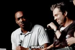 Watch and share Sebastian Stan Gifs GIFs and Anthony Mackie GIFs on Gfycat
