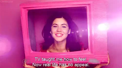 Watch this trending GIF on Gfycat. Discover more Marina Diamandis, TV is my life, abed nadir, marina and the diamonds, tv shows, unrealistic expectations GIFs on Gfycat