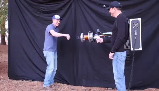 Watch and share Handheld TESLA COIL GUN At 28,000fps GIFs on Gfycat