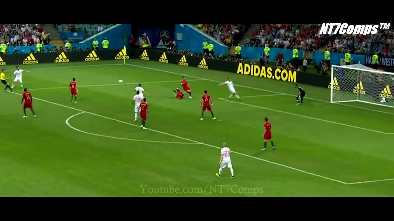 soccer, Isco shot vs Portugal GIFs