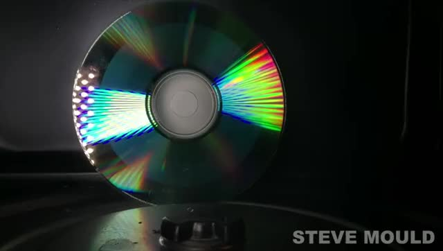 Watch Slow mo CD in a microwave - Filmed from the inside GIF on Gfycat. Discover more Damnthatsinteresting GIFs on Gfycat