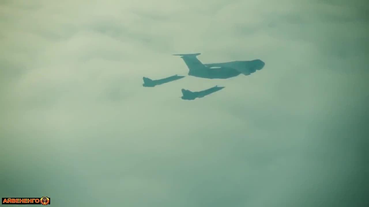 aviationgifs, militarygfys, Tu-95 and a pair of Su-24s refueling [x/MilitaryGfys] (reddit) GIFs