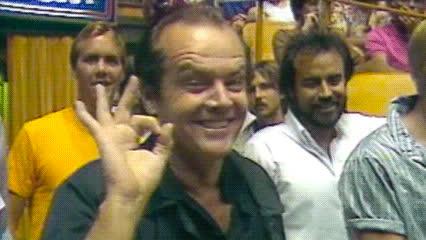 jack nicholson, k, ok, okay, Jack Nicholson — Los Angeles Lakers GIFs