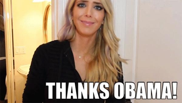 obama, thanks obama,  GIFs