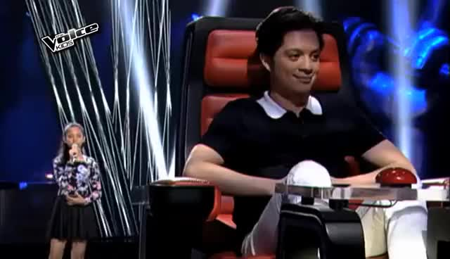 """Watch The Voice Kids Philippines 2015 Blind Audition: """"Chandelier"""" by Sassa GIF on Gfycat. Discover more related GIFs on Gfycat"""