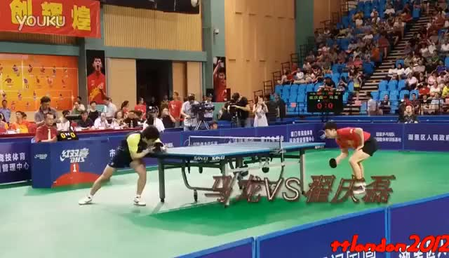 Watch and share Ma Long Vs Cui Qinglei (2016 China Warm Up Matches For Olympics) GIFs on Gfycat