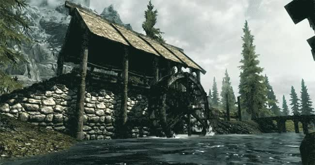Skyrim Water Mill [GIF] : woahdude GIFs
