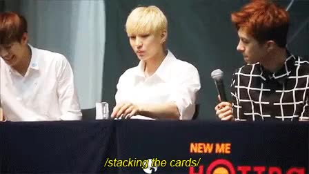Watch Don't mess with Leo's creations GIF on Gfycat. Discover more cuties, fansign, hahaha, idk if anyone posted this, its too cute, ken, keo, leo, my gif, vixx GIFs on Gfycat