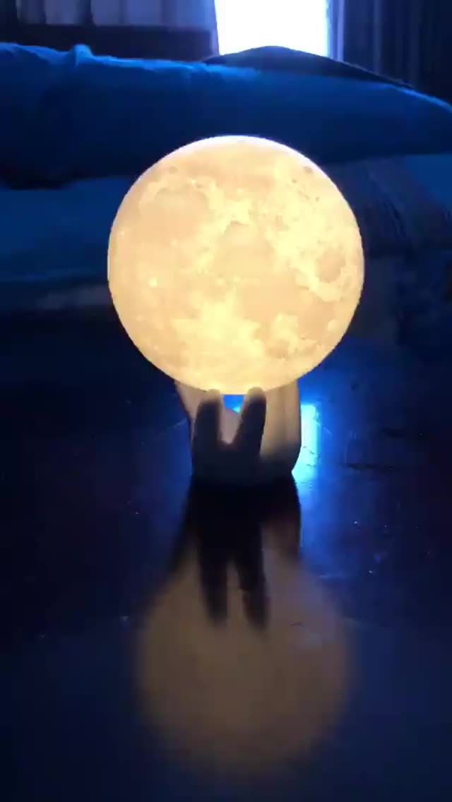 Watch and share LED Moon Light! GIFs by heun3344 on Gfycat