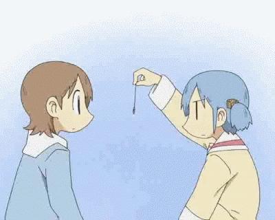 animegifs, Hypnosis fail [Nichijou] (reddit) GIFs