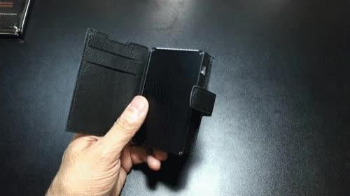 Watch 2019-01-04-Dash---Extra-slot---Gunmetal GIF by MANI WONDERS (@maniwonders) on Gfycat. Discover more Best Gadgets for men, Creditcardwallet, Luxury, RFID Secure wallet GIFs on Gfycat