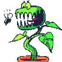 Watch and share Carnivorous Man Eating Plant Audrey Little Shop Of Horrors Eats Fly Smiley Smilie Smileys Smilies Emoticon Emoticons Animated Animation Anim animated stickers on Gfycat