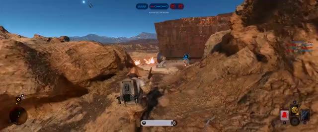 Watch and share Starwars Battlefront 4 Kill Smart Rocket! GIFs on Gfycat
