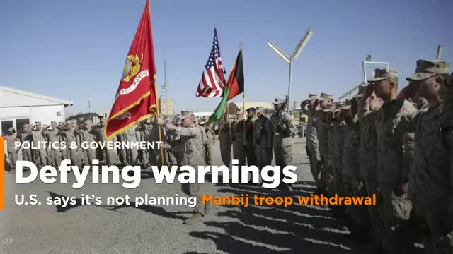 Watch BREAKING USA Military General says USA Troops NOT Leaving Manjib Syria Breaking News January 30 2018 GIF on Gfycat. Discover more breaking, general, ground, leaving, military, not, raw, standing, troops, usa GIFs on Gfycat