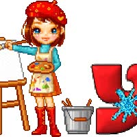 Watch and share Artist Girl Doll Pintora Kunstlerin Painter Malerin Animated Kunst Art Alphabet Alfabeto Gif Artistique animated stickers on Gfycat