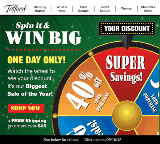 29ef7353371 Tafford Uniforms: Spin The Wheel & Save Between 30%-50% GIF | Find ...