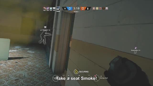 Watch Take a seat Smoke! #R6S GIF by Gamer DVR (@xboxdvr) on Gfycat. Discover more TomClancysRainbowSixSiege, jShiz, xbox, xbox dvr, xbox one GIFs on Gfycat