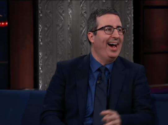 funny, haha, hilarious, john oliver, laughing, lol, stephen colbert, John Oliver LOL GIFs